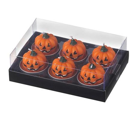Sada 6 sviečok Pumpkin Candle