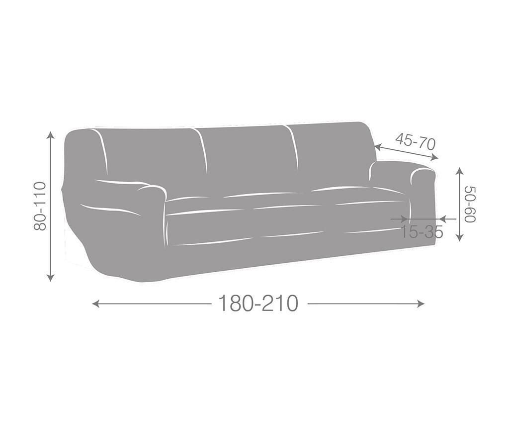 Ulises Ecru Elasztikus huzat kanapéra 180-210 cm