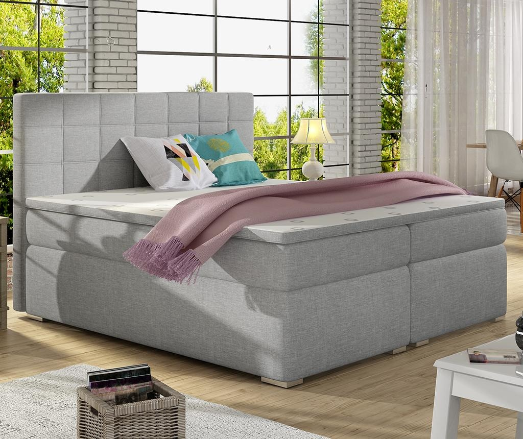 Alice Light Grey Boxspring ágy 160x200 cm