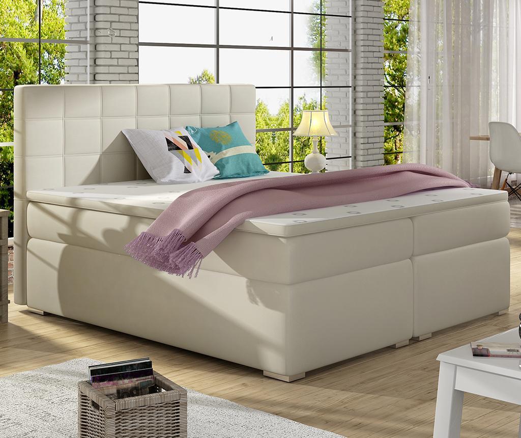 Boxspring krevet Alice Cream 160x200 cm