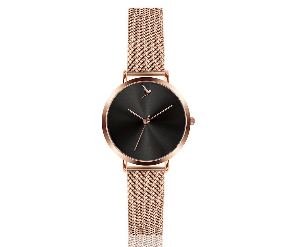 Set ceas de mana dama si bratara Emily Westwood Smooth Dark Glam Rose