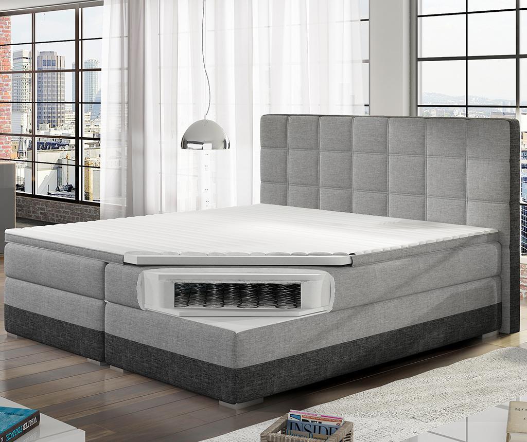 Boxspring krevet Damaso Grey Duo 180x200 cm