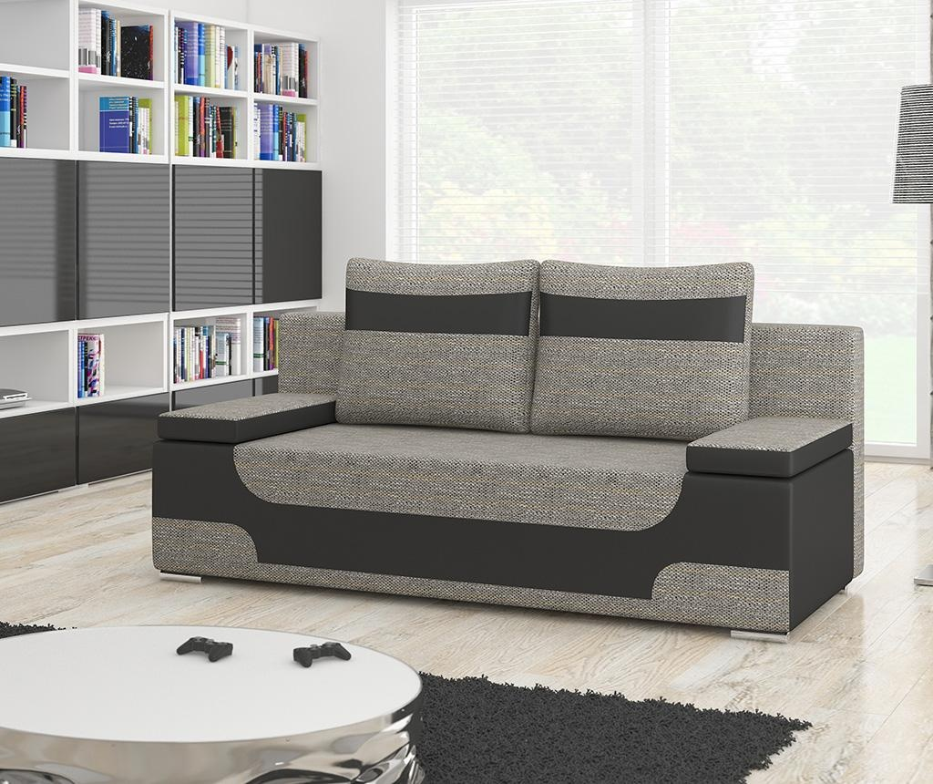 Kauč trosjed na razvlačenje Area Grey Black