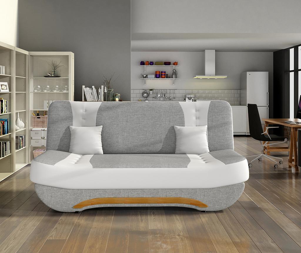 Sofa na razvlačenje Ewa White Light Grey