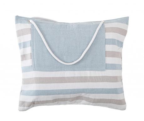 Set geanta si prosop de plaja Elvia Light Blue