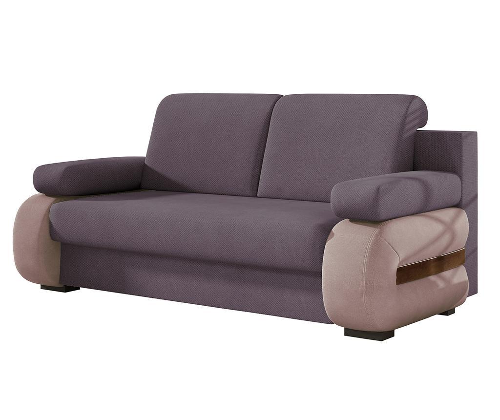 Kauč dvosjed na razvlačenje Laura Purple Pink