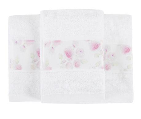 Sada 3 ručníků Almada Roses 30x50 cm