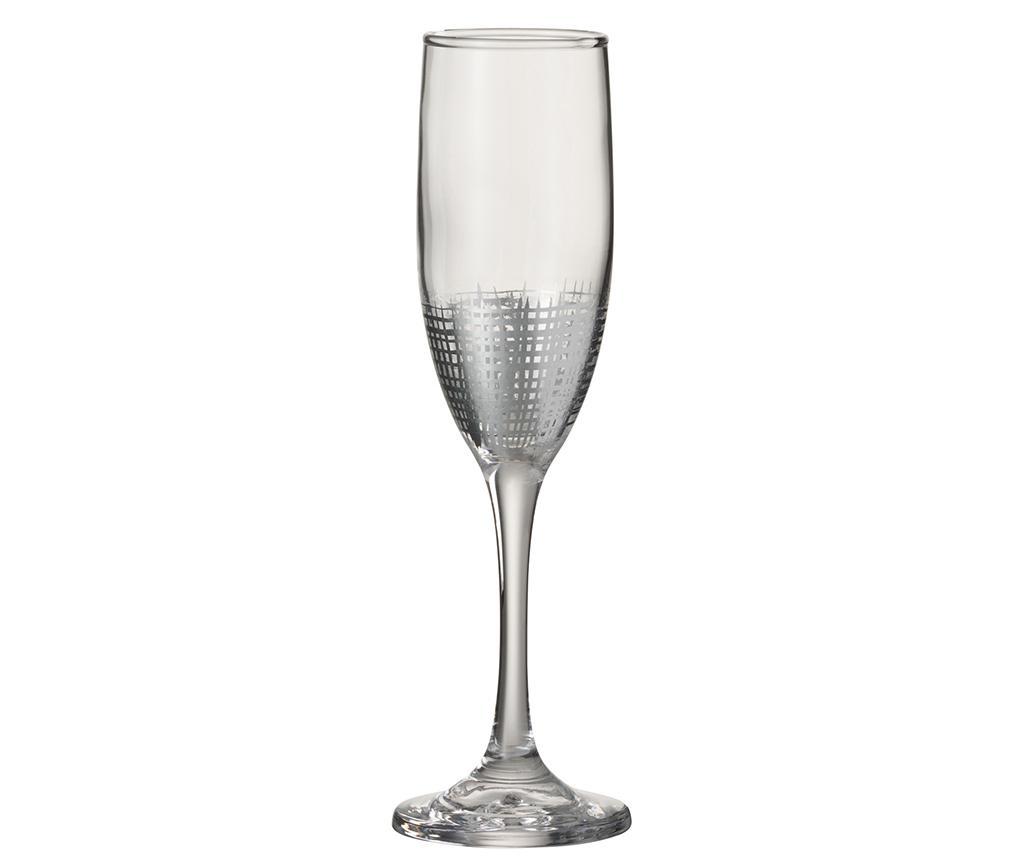 Sklenice na šampaňské Octavio Silver
