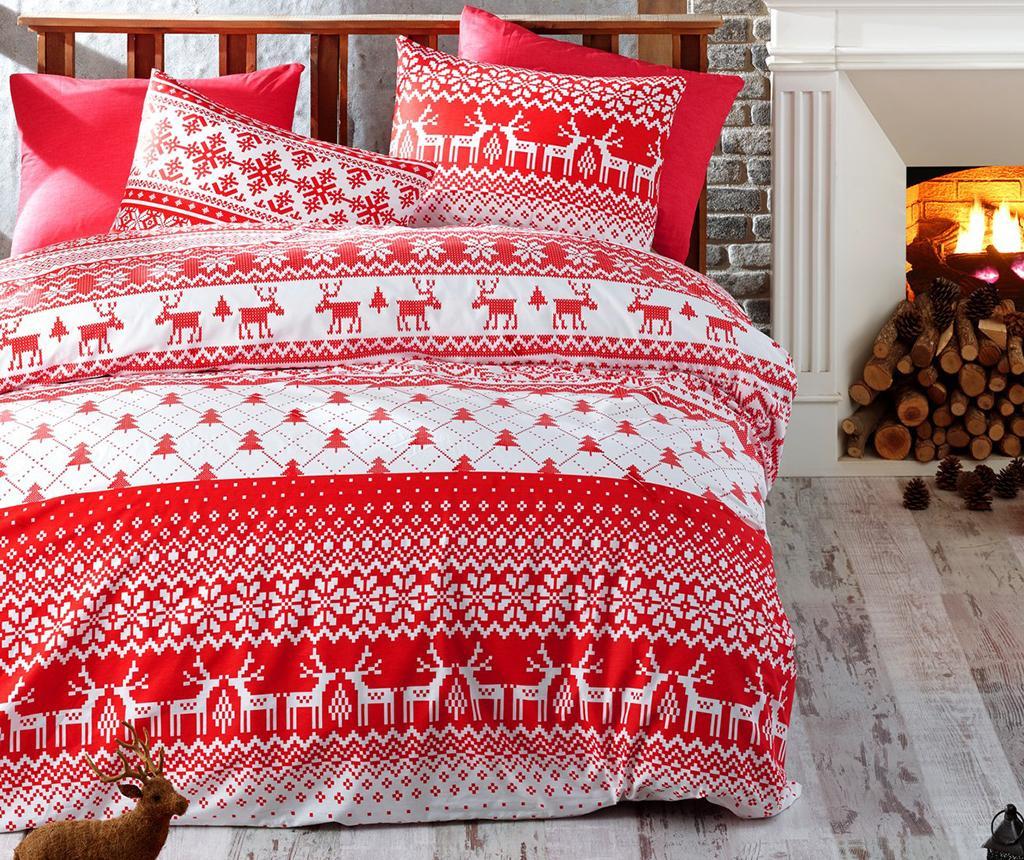 Lenjerie de pat Single Extra Ranforce Winter Red