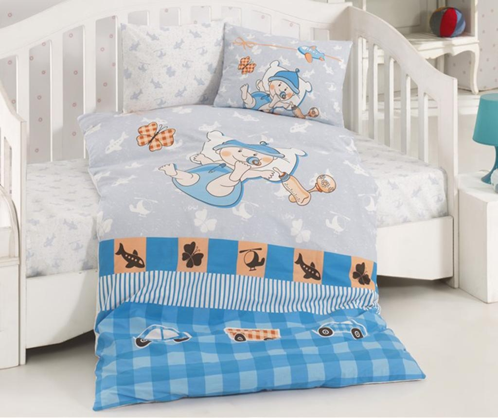Posteljnina za otroško posteljico Ranforce Hug Me Blue