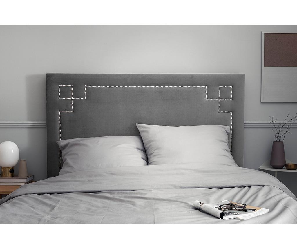 Tablie de pat Nicholas Light Grey Silver Pins 120x160 cm
