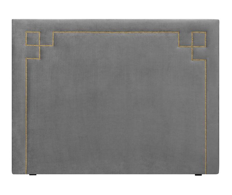 Tablie de pat Nicholas Light Grey Gold Pins 120x180 cm