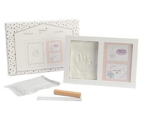 Set za dojenčkove spomine z okvirjem za 2 fotografiji Valentine