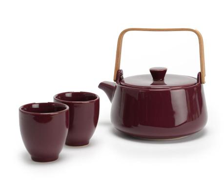 Sada čajník a 2 šálky Plum Flavour