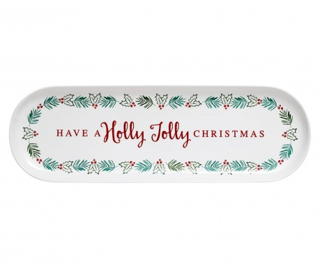 Platou Christmas Tradition Oblong Holly