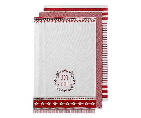 Zestaw 3 ręczników kuchennych Merrily 45x70 cm