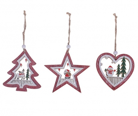 Set 6 decoratiuni suspendabile Christmas