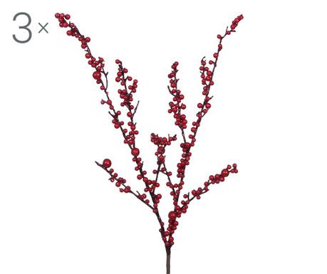 Sada 3 umělých květin Autumn