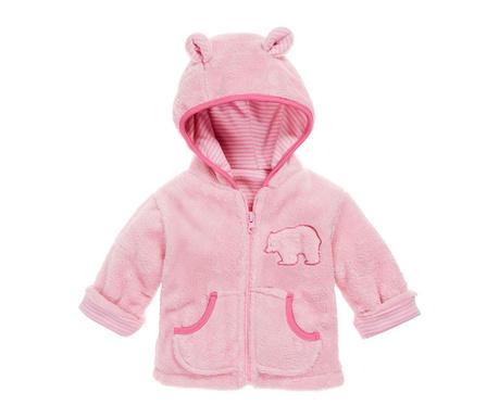 Hanorac copii Teddy Pink 8 luni
