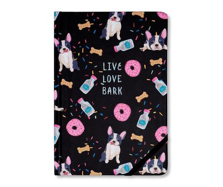 Beležka Live Love Bark