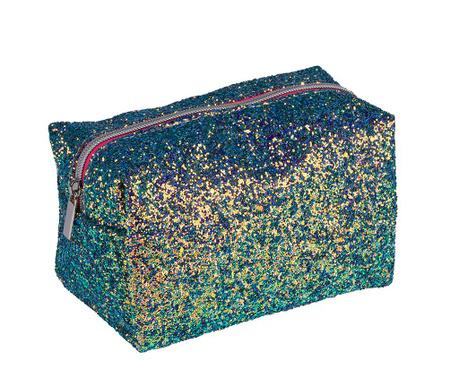 Kozmetična torbica Sequins Green