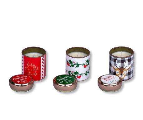 Set 3 dišečih sveč Rudolf