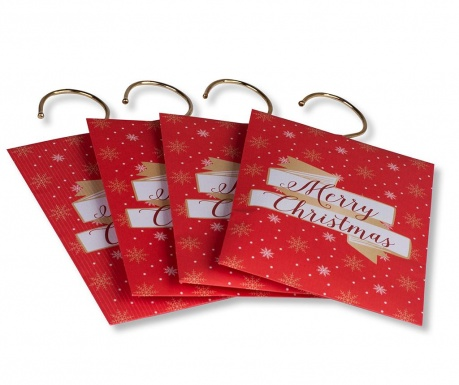 Set 4 dišečih vrečk Merry Christmas