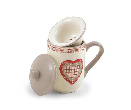 Чаша с инфузор и капак Hearts 275 мл