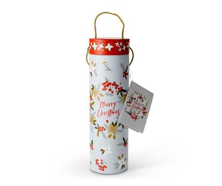Darilna škatla s pokrovom za steklenice Christmas Wine