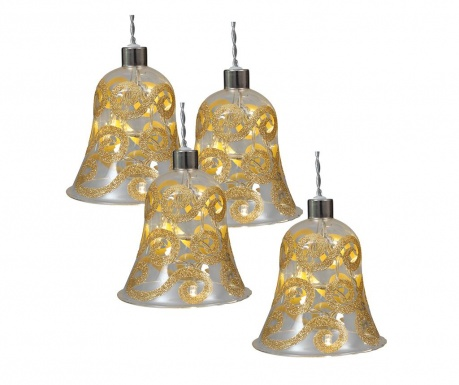 Set 4 ukrasne kuglice Bell Gold