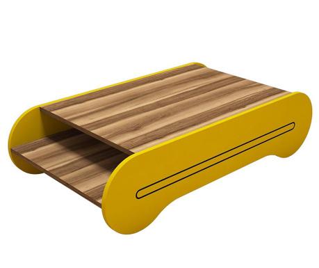 Konferenční stolek Cool Walnut Yellow