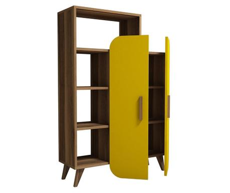 Regal za knjige Form  Walnut Yellow