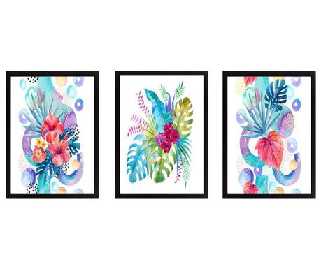 Set 3 tablouri Wild Plants 24x29 cm