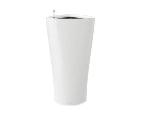 Delta Premium White Virágcserép önlocsoló rendszerrel és tartóval