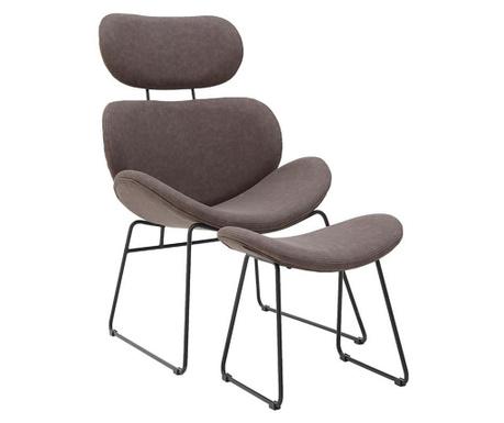 Set stolica i stolčić za noge Elkan