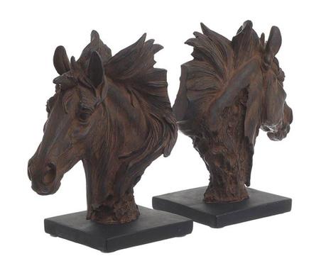Set 2 suporturi pentru carti Horses