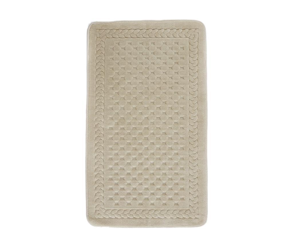 Lace Beige Fürdőszobai szőnyeg 70x120 cm