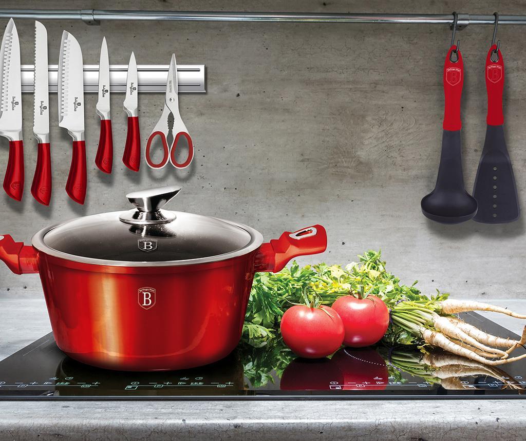 Posuda za kuhanje s poklopcem Metallic Burgundy 2.2 L