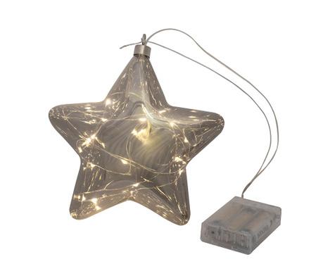 Светеща декорация Star Smoky Grey