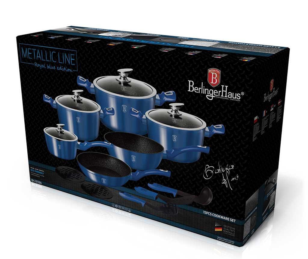 15-dijelni set posuda za kuhanje Metallic Royal Blue