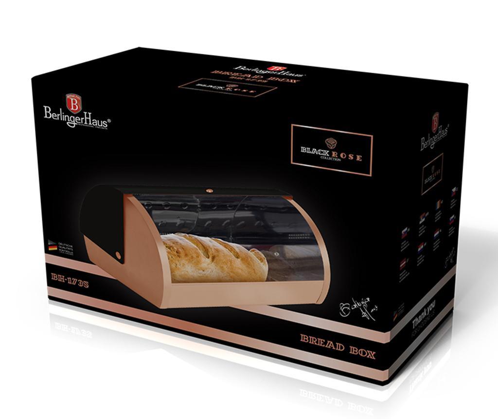 Škatla za kruh Black Rose