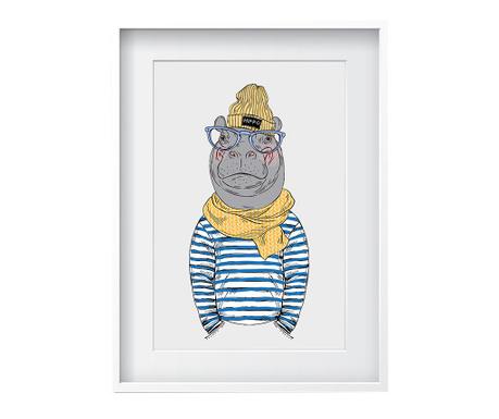 Obraz Hippo 24x29 cm