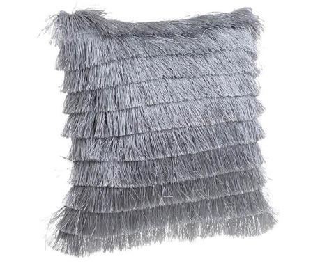 Poduszka dekoracyjna Daisha Fringes Grey 40x40 cm
