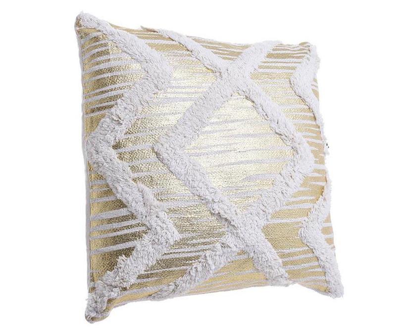 Dekorační polštář Helen Cream Gold 45x45 cm