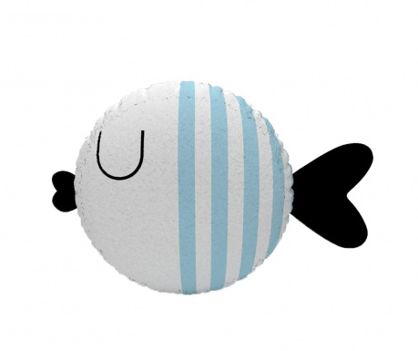 Okrasna blazina Fish Stripe White & Blue
