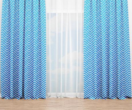 Draperie Zigzag Blue 140x240 cm
