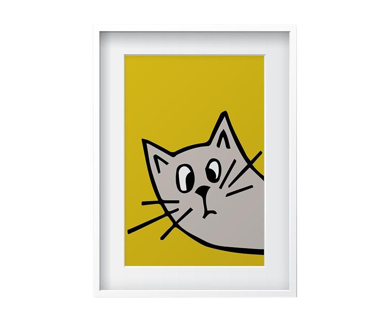 Tablou Cat Ears 24x29 cm