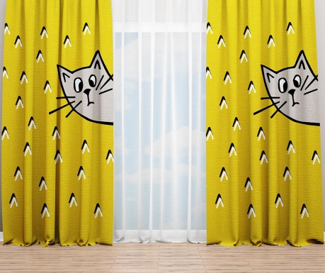 Set 2 draperii Cat Ears 140x240 cm