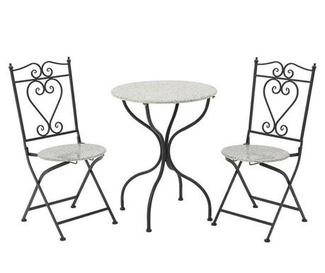 Set stol i 2 sklopive stolice za vanjski prostor Melody