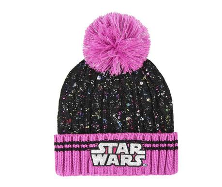 Otroška zimska kapa Star Wars Sparkling Pompom 50-52 cm